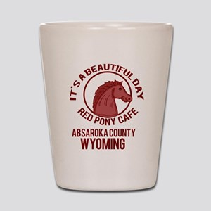 Red Pony Cafe Shot Glass