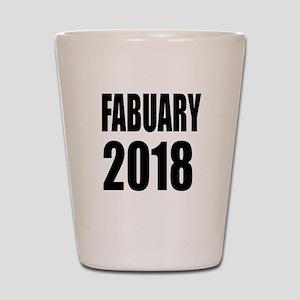 February 2018 Birthday Designs Shot Glass