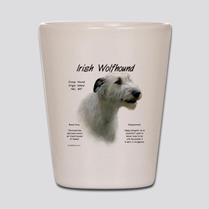 Irish Wolfhound (white) Shot Glass