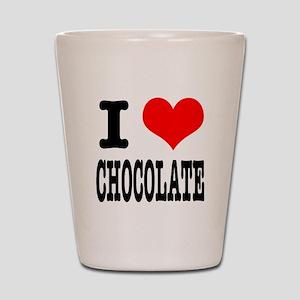 I Heart (Love) Chocolate Shot Glass