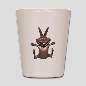 Funny Chocolate Bunny Shot Glass