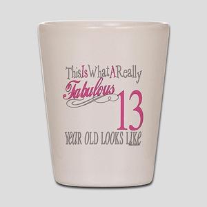 13th Birthday Gifts Shot Glass