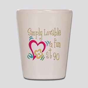 Lovable 90th Shot Glass
