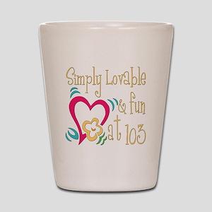 Lovable 103rd Shot Glass