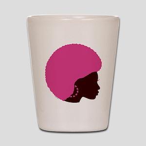 Pink Afro Shot Glass