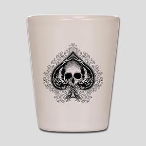 Skull Ace Of Spades Shot Glass