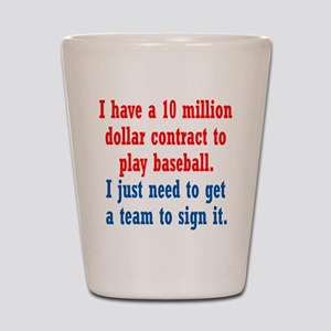 Baseball Contract Shot Glass
