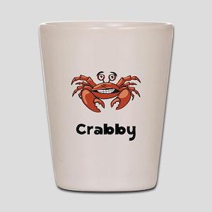 Crabby Crab Shot Glass