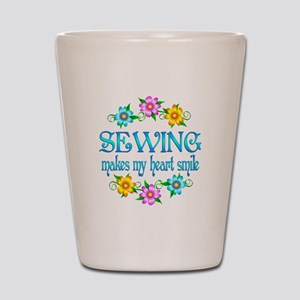 Sewing Smiles Shot Glass