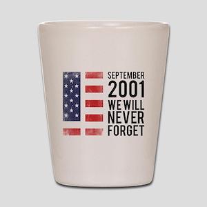 9 11 Remembering Shot Glass