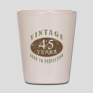 Vintage 45th Birthday Shot Glass
