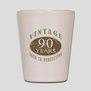 Vintage 90th Birthday Shot Glass