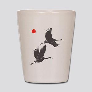 Crane Silhouette - Shot Glass