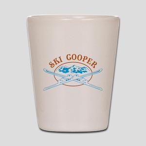 Ski Cooper Crossed-Skis Badge Shot Glass