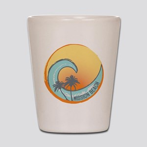 Mission Beach Sunset Crest Shot Glass