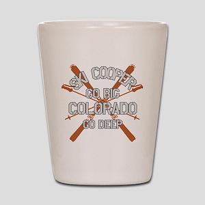 Go Big Ski Cooper Shot Glass
