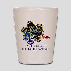 Last Flight of Endeavour Shot Glass