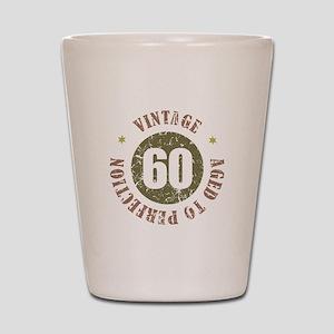 60th Vintage birthday Shot Glass
