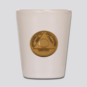 Alcoholics Anonymous Anniversary Chip Shot Glass