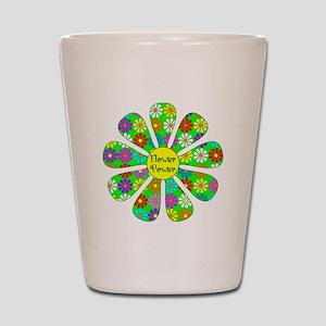 Cool Flower Power Shot Glass