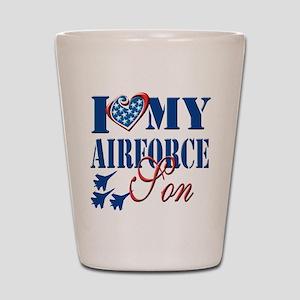 I Love My Airforce Son Shot Glass
