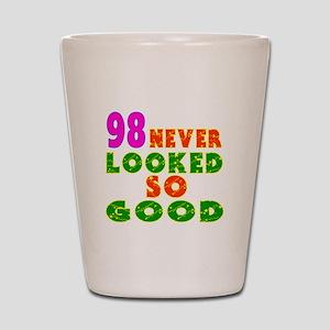98 Birthday Designs Shot Glass