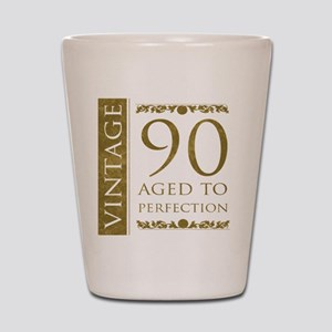 Fancy Vintage 90th Birthday Shot Glass