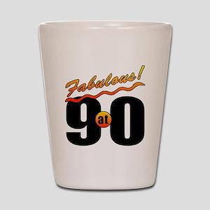 Fabulous At 90 Shot Glass