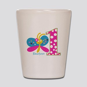 Butterfly First Birthday Shot Glass