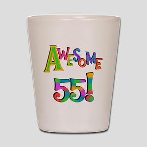Awesome 55 Birthday Shot Glass
