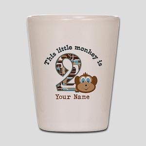 2nd Birthday Monkey Personalized Shot Glass