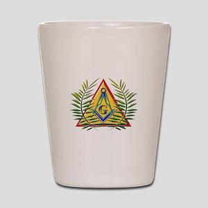 Triangle & Acacia Shot Glass