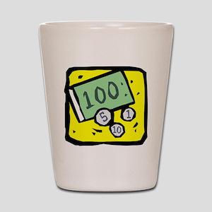 100 Dollar Bill Shot Glass