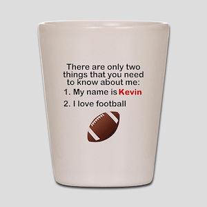 Two Things Football Shot Glass