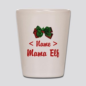 Personalized Mama Elf Shot Glass