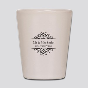 Custom Couples Name and wedding date Shot Glass