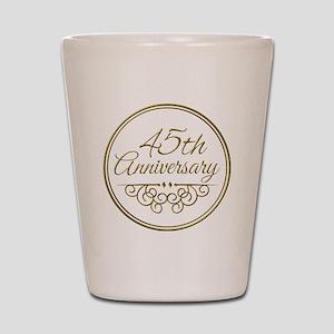 45th Anniversary Shot Glass