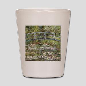 Monet Bridge over Water Lilies Shot Glass