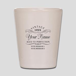 Personalize Funny Birthday Shot Glass