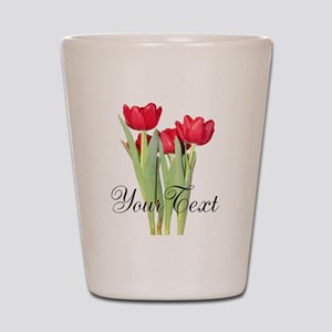 Personalizable Tulips Shot Glass