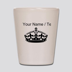 Custom Crown Shot Glass
