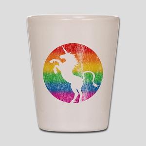 Retro Unicorn Rainbow Shot Glass
