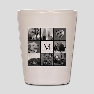Monogrammed Photo Block Shot Glass