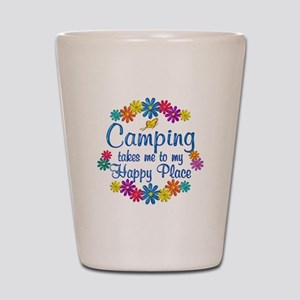 Camping Happy Place Shot Glass