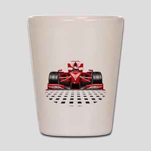 Formula 1 Red Race Car Shot Glass