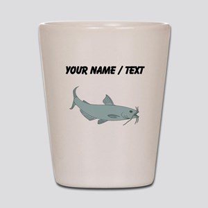 Custom Blue Catfish Shot Glass