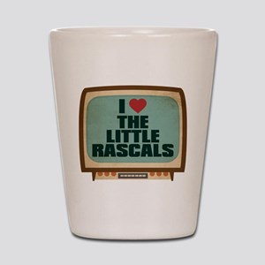 Retro I Heart The Little Rascals Shot Glass