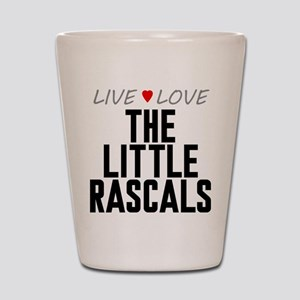 Live Love The Little Rascals Shot Glass