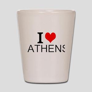 I Love Athens Shot Glass