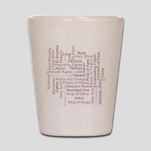 Names of God Word Art Shot Glass